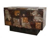 paul evans patchwork cabinet (sold) by paul evans