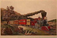 american express train by currier & ives (publishers)