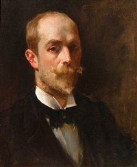 portrait of artist albert beck wenzell (1864-1917) by william merritt chase