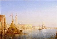 le palais des doges, vu du canal della grazia by félix ziem