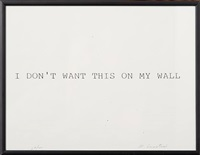 i want walls by william anastasi
