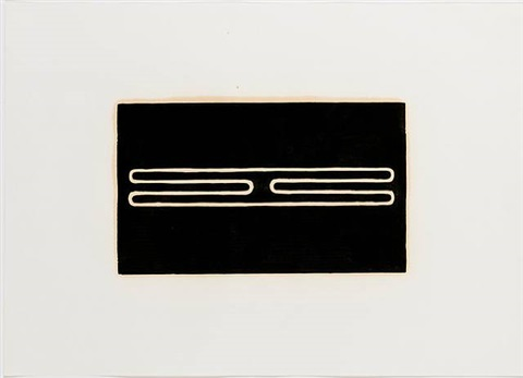 "untitled (print ""g"") by donald judd"