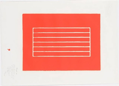 untitled (print f) by donald judd