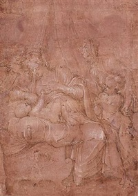 die heilige familie / the holy family by giorgio vasari