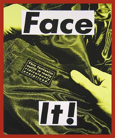 face it (yellow) by barbara kruger