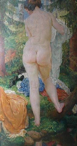 the bather by jakub obrovsky