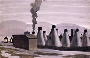 industrial kilns by charles ephraim burchfield