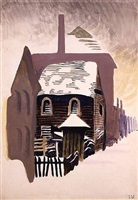 clapboard house by charles ephraim burchfield