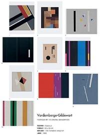 serie mit 10 serigraphien by friedrich vordemberge-gildewart