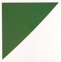 green curve with radius of 20 (axsom 101) from the portfolio for meyer schapiro by ellsworth kelly