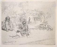 les baigneurs (the bathers) by rembrandt van rijn