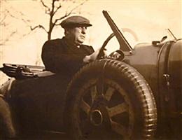 andre derain and his bugatti by man ray
