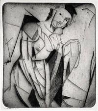 figure in glass by arthur bowen davies