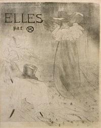 elles (black and white cover) by henri de toulouse-lautrec