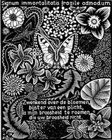 butterfly by m. c. escher