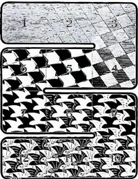 regular division of the plane i by m. c. escher