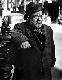 lower east side (man), new york by lisette model