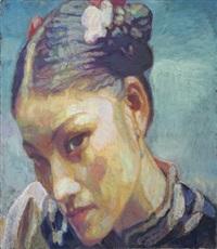 head of a beauty by chen yifei