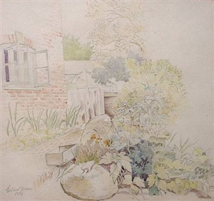 the old brick terrace by gilbert spencer
