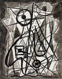 untitled abstract composition by abraham walkowitz