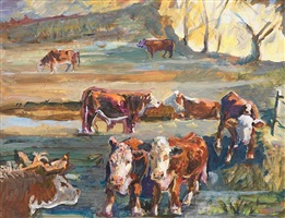cows at daybreak by kinney frelinghuysen