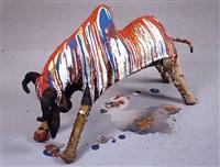 untitled (bull) by jules de balincourt