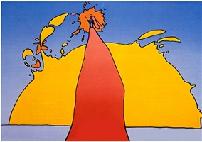 his own eclipse by peter max
