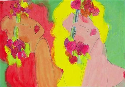 pink lady, yellow lady by walasse ting