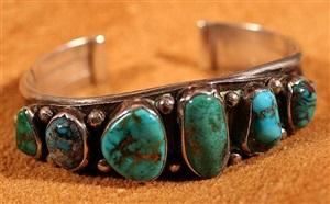 striking six stone silver cuff by mark chee