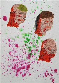 untitled (three heads with masks) by neckface