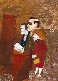three before the bench by william gropper