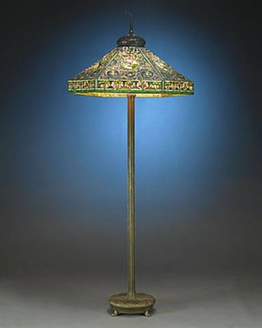 tiffany landscape floor lamp by tiffany studios