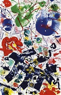 untitled (sf-357) by sam francis