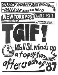 stock market: '87 crash tgif! (23rd october 1987) by aleksandra mir