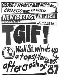 stock market: '87 crash tgif! (23rd october 1987) by aleksandra mir