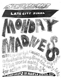 stock market: up and down monday madness (16th october 1989) by aleksandra mir