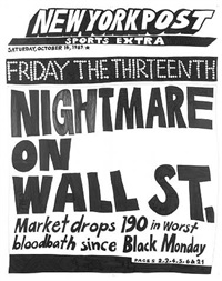 stock market: up and down nightmare on wall st. (14th october 1989) by aleksandra mir