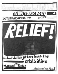 stock market: up and down relief! (24th october 1987) by aleksandra mir