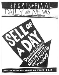 stock market: up and down sell of a day (1st september 1998) by aleksandra mir