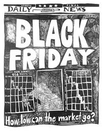 stock market: up and down black friday (15th april 2000) by aleksandra mir