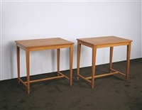 paire de tables / pair of tables by jean-michel frank