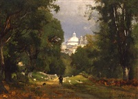 albano, italy by george inness
