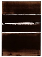 walnut stain, 2003 (b-11) by pierre soulages