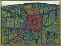 paysage by jean dubuffet