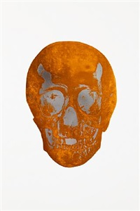 the dead island copper silver gloss skull by damien hirst