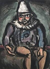 le vieux clown by georges rouault