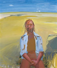 frank in the desert by dana schutz