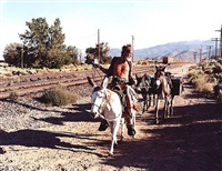 astride mama burro, now dead by justine kurland