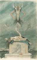 the sacrifice by félicien joseph victor rops