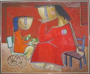 nina con triciclo by angel botello